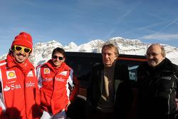 Fernando Alonso, Giancarlo Fisichella, Luca di Montezemolo