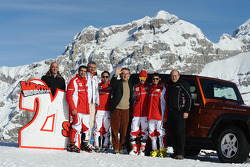 Marc Gene, Maurizio Arrivabene, Felipe Massa, Luca di Montezemolo, Fernando Alonso, Giancarlo Fisichella
