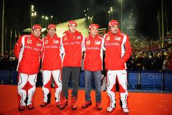 Giancarlo Fisichella, Marc Gene, piloto de pruebas Scuderia Ferrari, Jules Bianchi, piloto de prubas