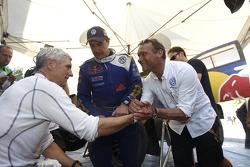 Mark Miller, Carlos Sainz y Kris Nissen