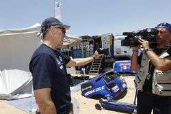 Simulation d'arrêt aux stands avec la Team Toyota et Allan McNish