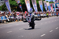 Stunt bike rider Chris Pfeiffer