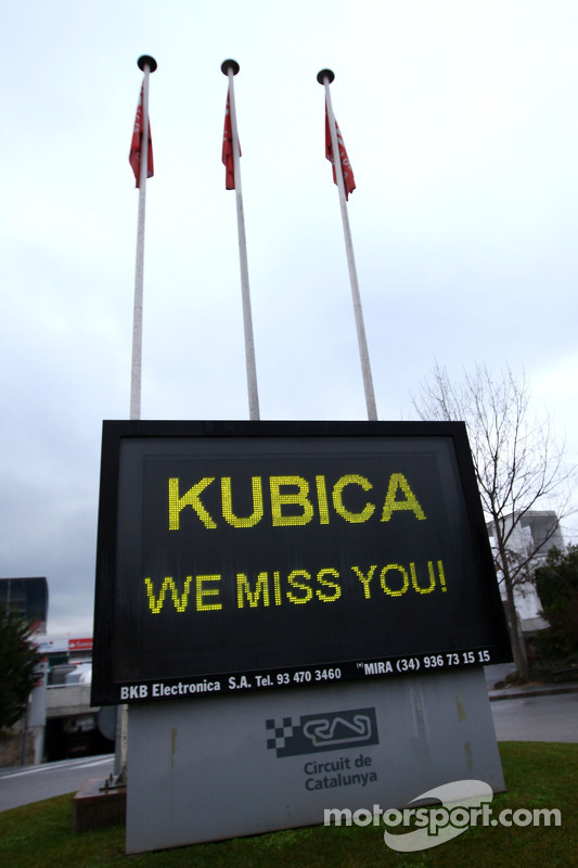 Message For Robert Kubica, Lotus Renault GP