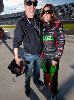 Maryeve Dufault celebrates qualifying with her dad