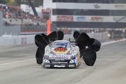 Tony Pedregon deploys the parachutes on his American Racing Wheels Monte Carlo SS Funny Car