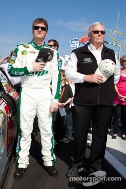 Dale Earnhardt Jr., Hendrick Motorsports Chevrolet with Rick Hendrick