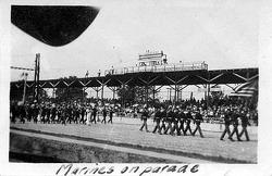 1921 Indy 500: Marines bei der Parade