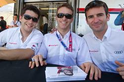 Mike Rockenfeller, Timo Bernhard and Romain Dumas