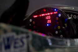 Steering wheel on the car of J.R. Hildebrand, Panther Racing