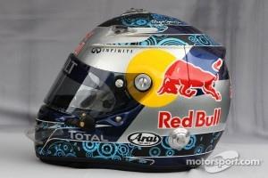 Helmet of Sebastian Vettel, Red Bull Racing