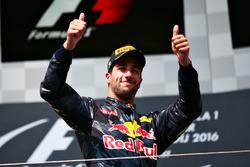 Podium: derde plaats voor Daniel Ricciardo, Red Bull Racing