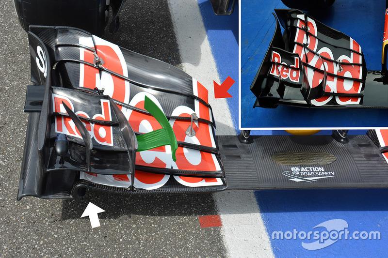 Toro Rosso STR11 voorvleugel detail