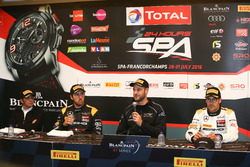 Qualifying Pressekonferenz: Pole Position für Polesitter #58 Garage 59, McLaren 650 S GT3: Shane Van Gisbergen; #56 Black Falcon, Mercedes-AMG GT3: Daniel Juncadella; #86 AMG-Team HTP Motorsport, Mercedes-AMG GT3: Maximilian Götz