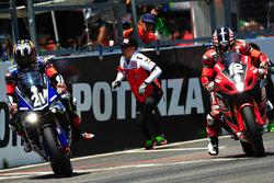 #21 Yamaha Factory Racing Team: Katsuyuki Nakasuga; #12 Yoshimura Suzuki: Takuya Tsuda, Joshua Brookes