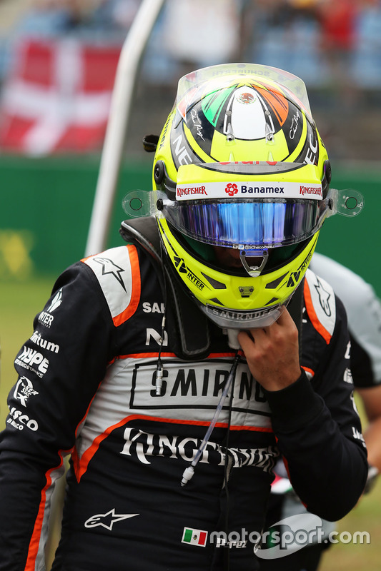Sergio Pérez, Sahara Force India F1 en la parrilla