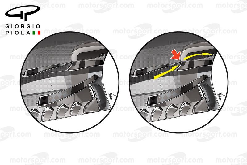 Toro Rosso STR11 details van de vloer, Duitse GP
