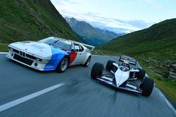 Nelson Piquet Jr., babasının Brabham BMW F1'ini kullanıyor