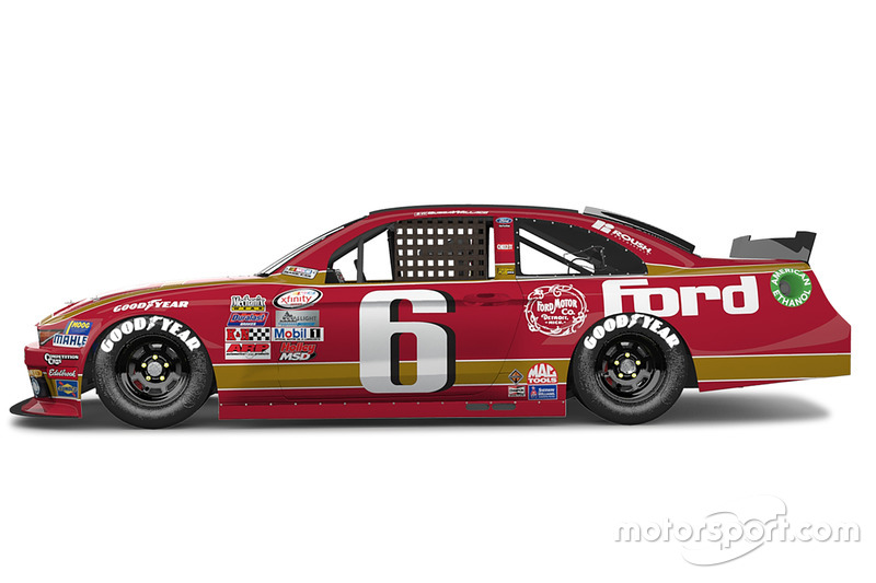 Throwback-Design von Darrell Wallace Jr., Roush Fenway Racing, Ford