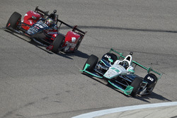 Simon Pagenaud, Team Penske Chevrolet, Graham Rahal, Rahal Letterman Lanigan Racing Honda