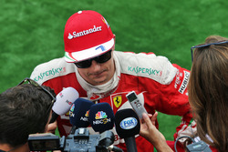 Kimi Raikkonen, Ferrari with the media
