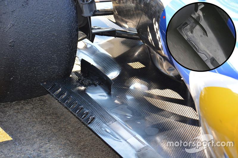 Sauber C35 vloer detail