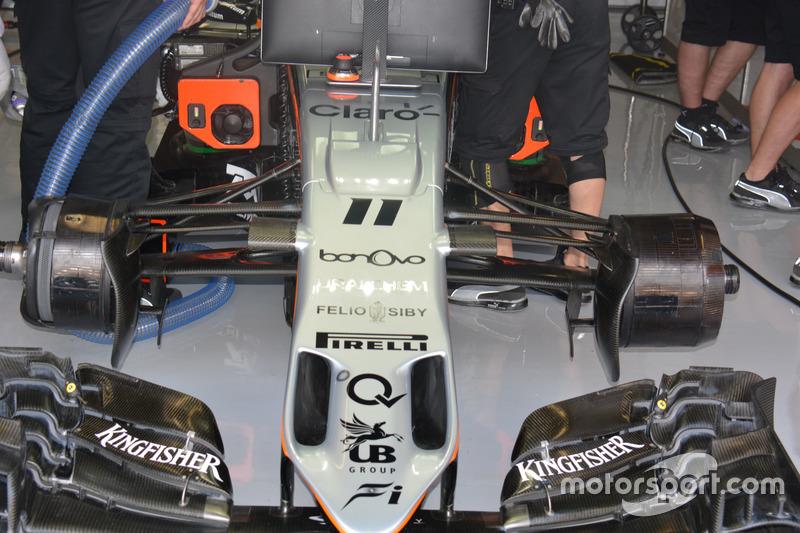 Force India VJM09: Asymmetrische Vorderradbremse