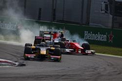 Antonio Giovinazzi, PREMA Racing ve Daniel de Jong, MP Motorsport