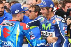 Ganador, Maverick Viñales, Team Suzuki MotoGP, tercero, Valentino Rossi, Yamaha Factory Racing