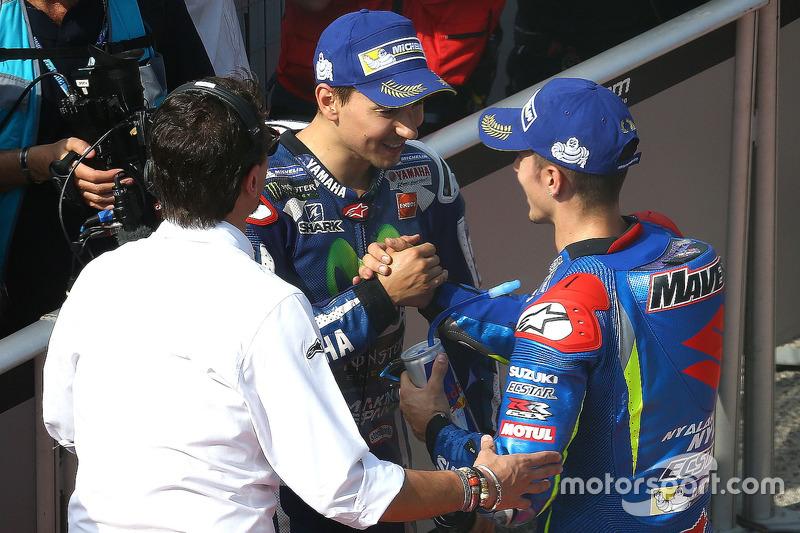Poleman Jorge Lorenzo, Yamaha Factory Racing, Maverick Viñales, Team Suzuki Ecstar MotoGP