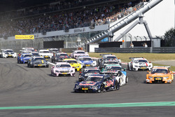 Start of the race, Marco Wittmann, BMW Team RMG, BMW M4 DTM leads