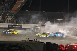 Crash: Ryan Newman, Richard Childress Racing, Chevrolet; Dylan Lupton, BK Racing, Toyota; David Ragan, BK Racing, Toyota; Brian Scott, Richard Petty Motorsports, Ford