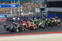 Start: Jorge Lorenzo, Yamaha Factory Racing vooraan