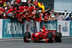 Eddie Irvine, Ferrari F399 takes the win