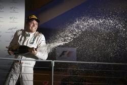 Nico Rosberg, Mercedes AMG F1 W07 Hybrid on the podium
