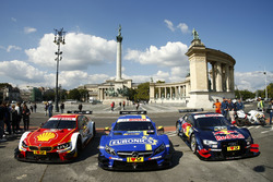 The DTM cars on the Budapest Rink street