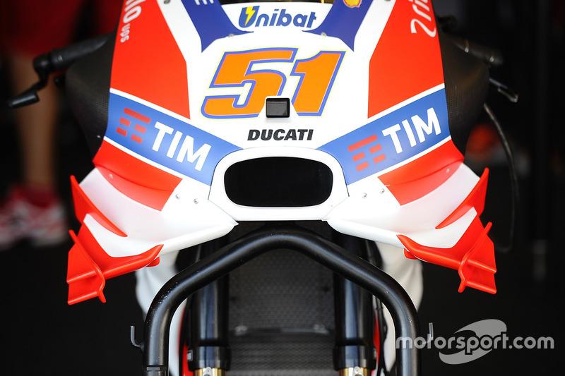Alas en la Ducati Desmosedici de Michele Pirro durante esta temporada