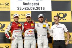Podium: Race winner Mattias Ekström, Audi Sport Team Abt Sportsline, Audi A5 DTM; second place Adrien Tambay, Audi Sport Team Rosberg, Audi RS 5 DTM; third place Daniel Juncadella, Mercedes-AMG Team HWA, Mercedes-AMG C63 DTM