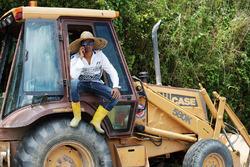 Sportwart mit Traktor