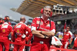 Maurizio Arrivabene, Ferrari Team Principal on the drivers parade