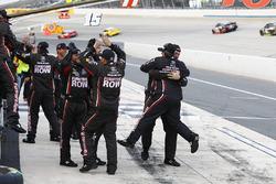 Crew members of Martin Truex Jr., Furniture Row Racing Toyota celebrating