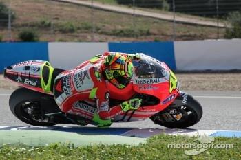 Valentino Rossi, Ducati Team, tests the new Ducati GP12