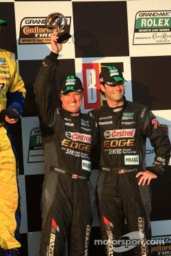 GT podium: third place Jonathan Bomarito and Sylvain Tremblay