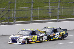 David Reutimann, Michael Waltrip Racing Toyota and A.J. Allmendinger, Richard Petty Motorsports Ford
