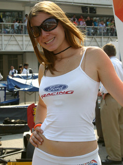 A Ford Racing girl