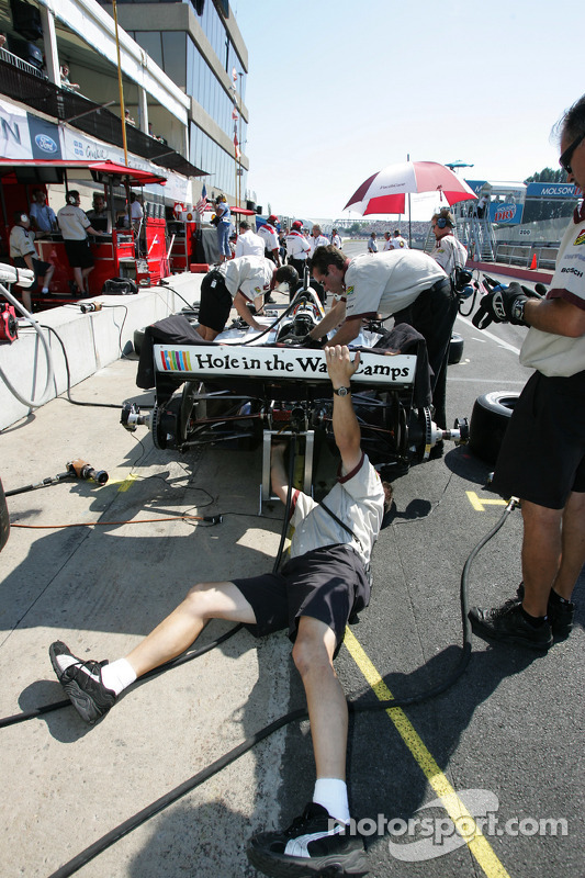 Newman Haas Racing crew members at work