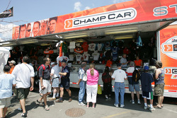 Champ Car merchandising area