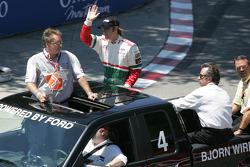 Drivers parade: Bjorn Wirdheim