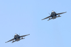 Flyover by Canadian Air Force CF-18 jet fighters