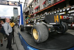 Ford Racing Festival on Crescent street: a Champ Car car on display
