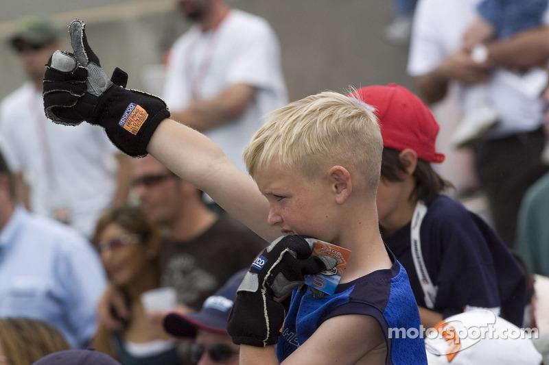 De jeunes fans de Champ Car